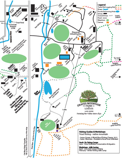 Graves Mountain Master Map - Activities, Cabins, Near Trails