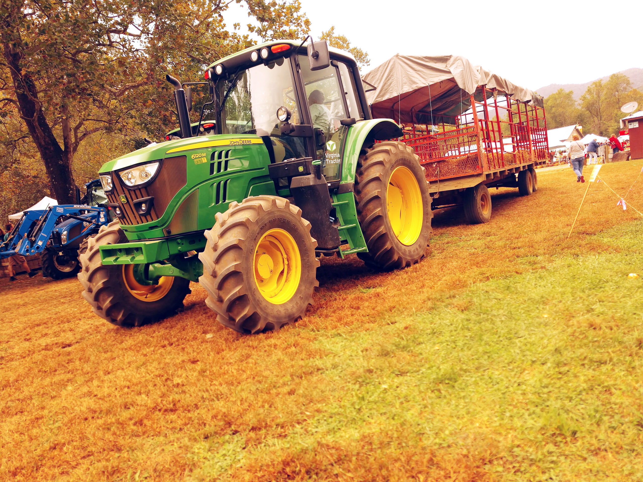 Hay Rides through orchards at Graves Mountain Apple Harvest Festival