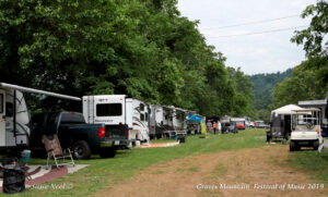 Music Festival weekend at Graves Mountain Campground by Shenandoah National Park