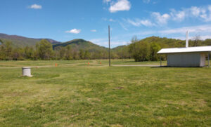 The first field of the Graves Mountain Campground by Shenandoah National Park