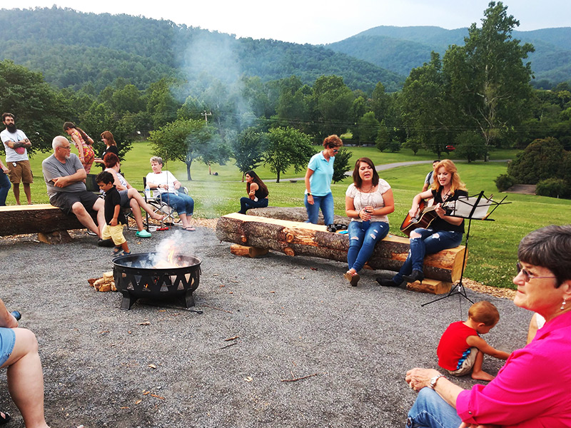 Camp-fire, s'mores and local music at Graves Mountain Farm.