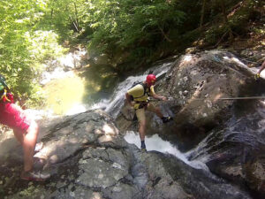 Cascading down Waterfalls with Shenandoah Mountain Guides