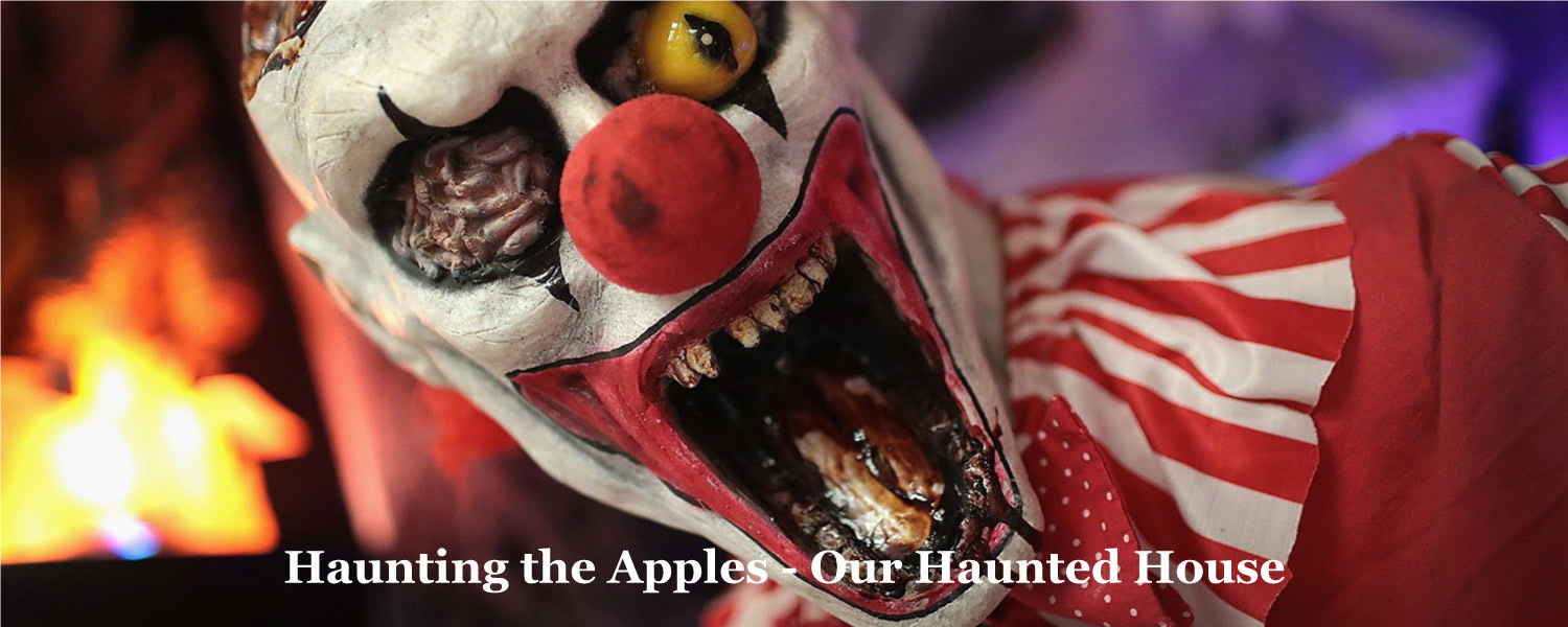 Haunted house at Graves Mountain Farm - haunting the apples