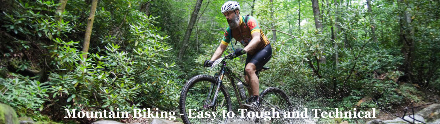 Mountin Biking on tough trails at Grves Mountain Farm & Lodges