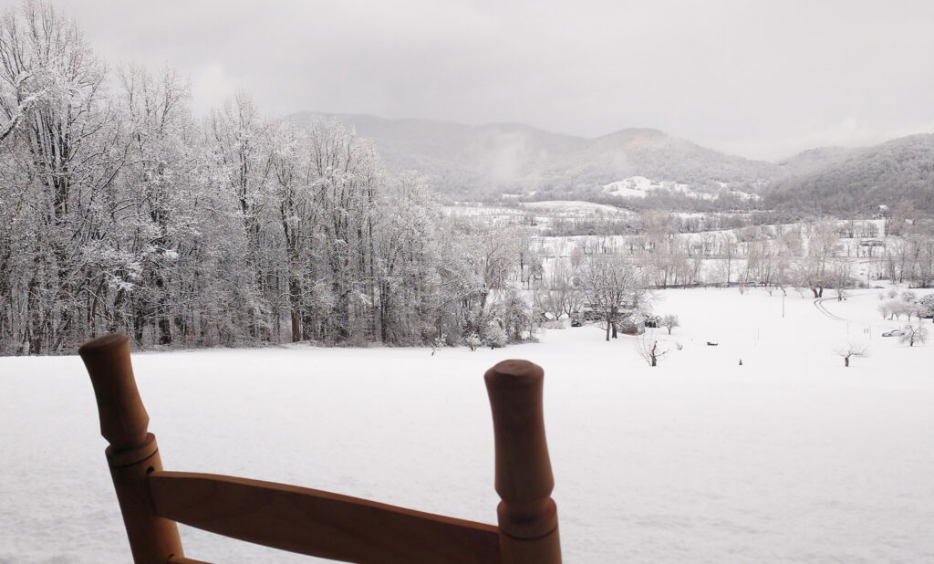 Winter at Hotel Lodge Rooms - Blue Ridge View Lodges on Doubletop Mountain