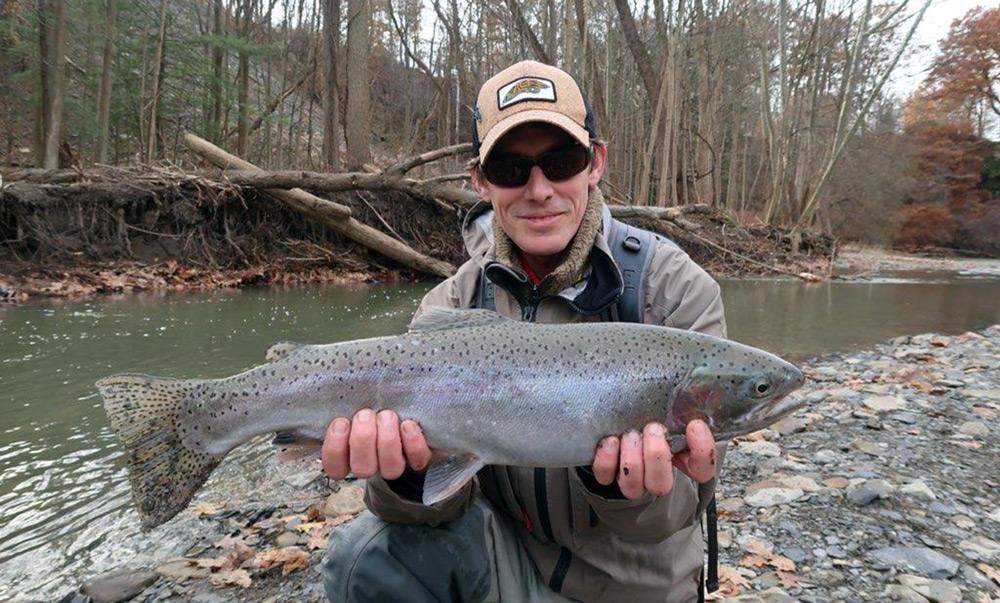 Guide, Gaeln Westman for Graves Mountain Farm fishing headquarters in the VA Blue Ridge