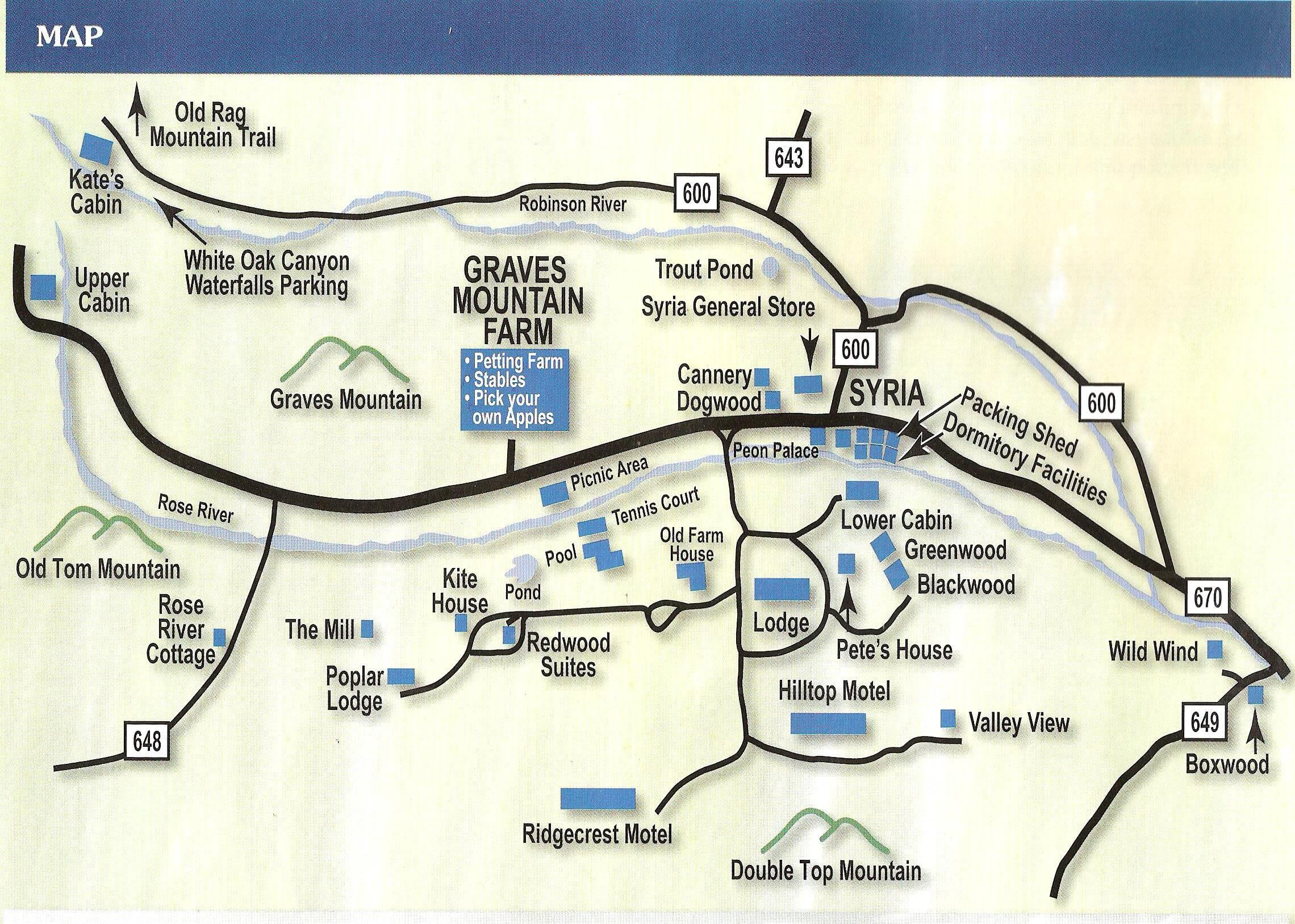 Graves Mountain Lodge Retreat To The Beautiful Mountains Of Virginia - Us military lodging map
