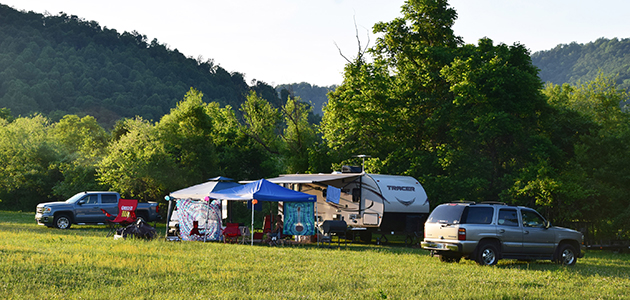 Camping fields at Bluegrass Festival at Graves Mountain, Syria VA