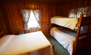 Double bed and 2 Bunk Beds in Bedroom #1