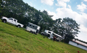 Horse camping group at Graves Mountain Campground