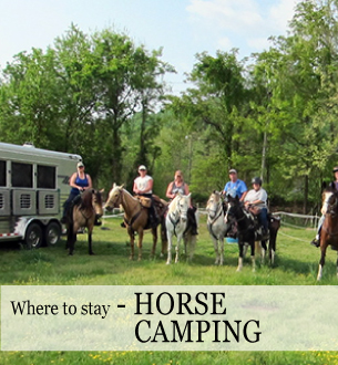 Horse camping next to Shenandoah NP, 250 miles of trails, Graves Mountain Farm
