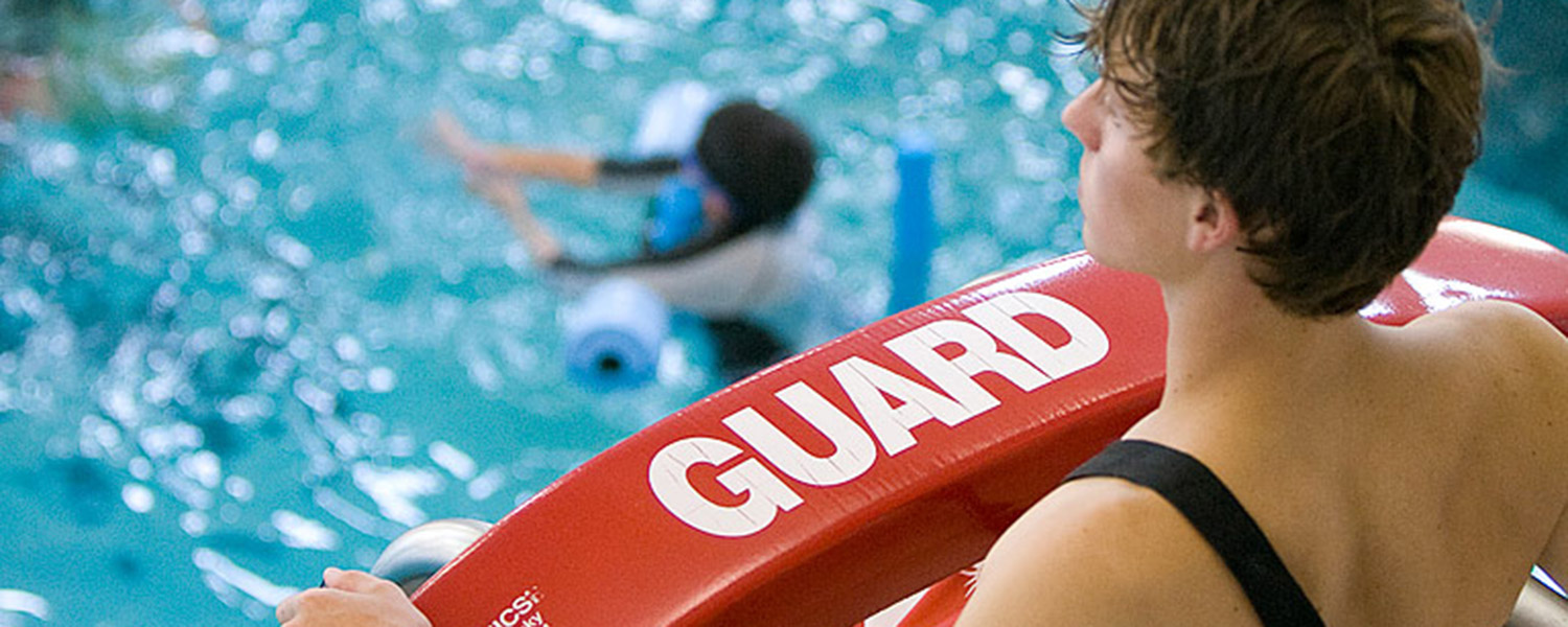Lifeguard on duty at Graves Mountain Pool