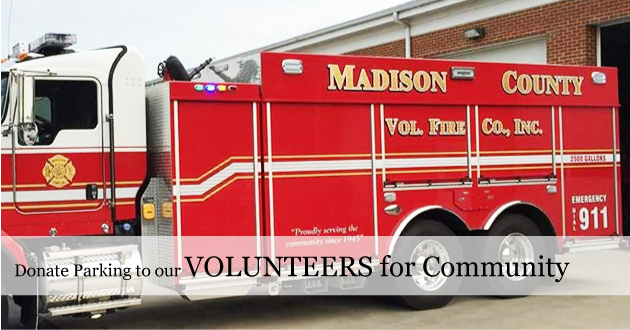 July 4 Parking - donations to Madison County Fire & Rescue Volunteers