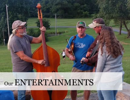 Music most weekends and other entertaiments at Graves Mountain Farm & Lodges, Syria VA