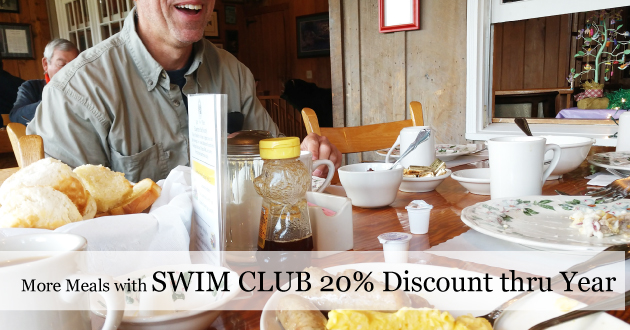 Swim Club Benefit - 20% Discount for Dining