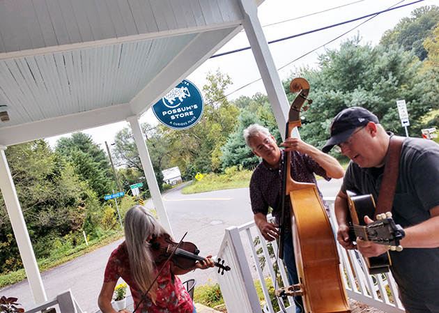 Possums Store n Criglersville with front porch blue grass - all local talent from the holler