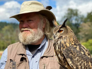 Learning & Discovery on the Farm - here with Steve and his hawk.