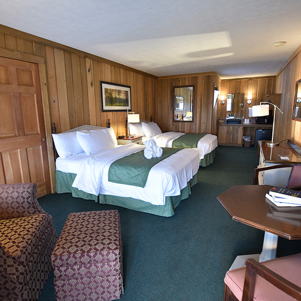 Lodge Guest Room Double Queen - on hillsides over;looking the Blue Ridge - at Graves Mountain