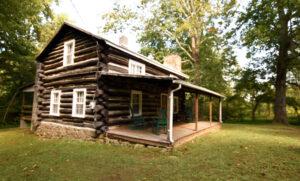 North Side of Log Cabin