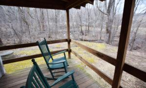 Back Porch above the Stream