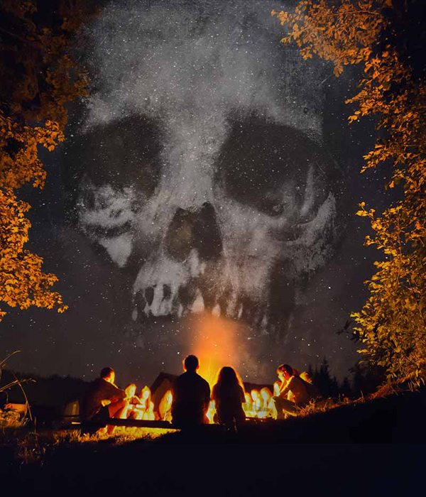 Spooky Halloween Story-telling around the campfire