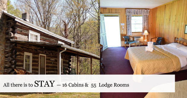 Stay in hotel rooms in Blue Ridge of VA, next to Shenandoah NP