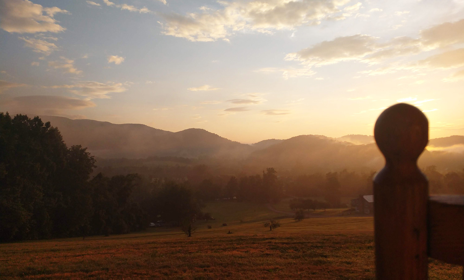 Rose River Valley Sunrise at Graves Mountain Farm & Lodges