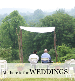 Country weddings in the Blue Ridge at Graves Mountain Farm, tucked up under the ridge.